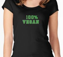 100% Vegan Clothing Women's Fitted Scoop T-Shirt