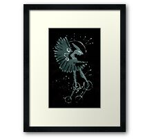 0087 - Brush and Ink - Fan Framed Print