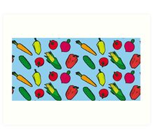 Vegetables Pattern Art Print