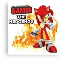 Gamer The Hedgehog  Canvas Print