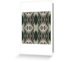 Pine forest zigzags Greeting Card