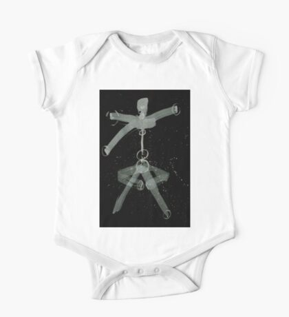 0088 - Brush and Ink - The Calculated Human One Piece - Short Sleeve
