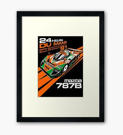 DU MANS : MAZDA 787B Framed Print