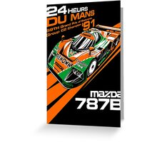 DU MANS : MAZDA 787B Greeting Card
