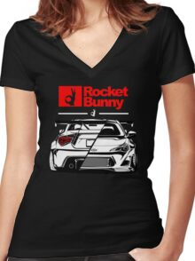 ROCKET BUNNY Women's Fitted V-Neck T-Shirt