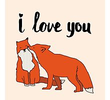 Foxes in Love Photographic Print