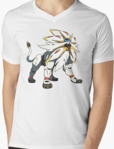 POKEMON SUN AND MOON - SOLGALEO Mens V-Neck T-Shirt