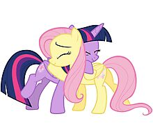 Fluttershy and Twilight Sparkle Photographic Print