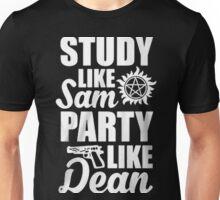 STUDY LIKE SAM PARTY LIKE DEAN ( SAM AND DEAN ) Unisex T-Shirt