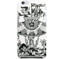 Black and White Graffiti Characters  iPhone Case/Skin