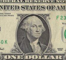 One Dollar Bill Banknote Sticker