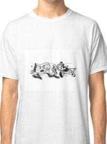 Black and White Graffiti Characters  Classic T-Shirt