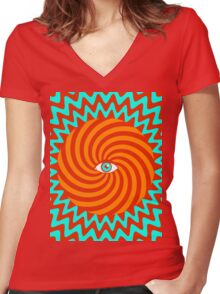 Hypnotic poster Women's Fitted V-Neck T-Shirt