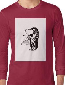 Black and White Graffiti Character Long Sleeve T-Shirt