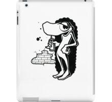 Black and White Graffiti Character iPad Case/Skin