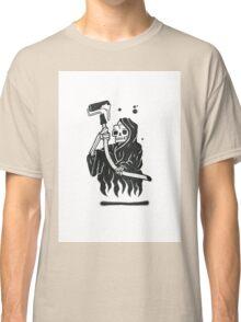 Black and White Graffiti Character Classic T-Shirt