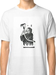 Black and White Graffiti Character Classic T-Shirt