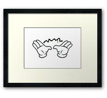 Hands Spray Framed Print