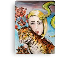 Woman with Animals Canvas Print