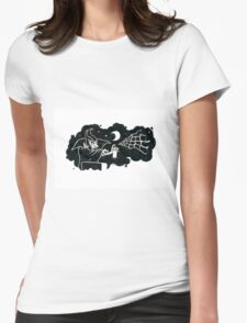Spraying Dracula Womens Fitted T-Shirt
