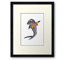 Swimming Shark Isolated Framed Print