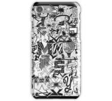 Black and White Graffiti Alphabet iPhone Case/Skin