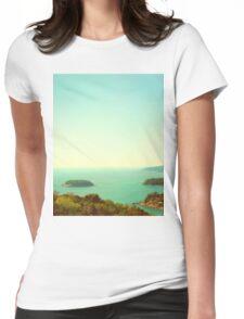 Ocean landscape Womens Fitted T-Shirt