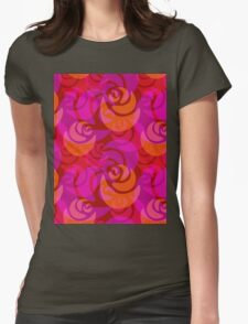 Roses pattern Womens Fitted T-Shirt