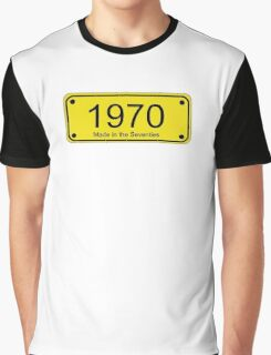 70s License Plate iPhone Cover ~ 1970 ~ Born in the Seventies Case Graphic T-Shirt