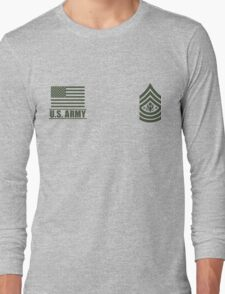 Sergeant Major of the Army Infantry US Army Rank by Mision Militar ™ Long Sleeve T-Shirt