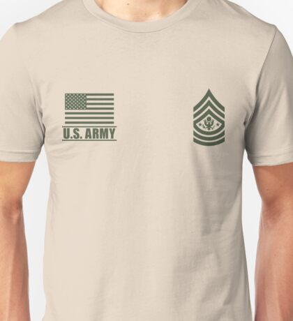 Sergeant Major of the Army Infantry US Army Rank Desert by Mision Militar ™ Unisex T-Shirt