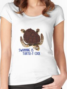 Swimming is Turtle-y Cool! Women's Fitted Scoop T-Shirt