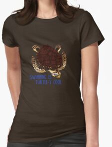 Swimming is Turtle-y Cool! Womens Fitted T-Shirt