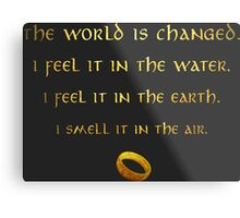 The world is changed... Metal Print