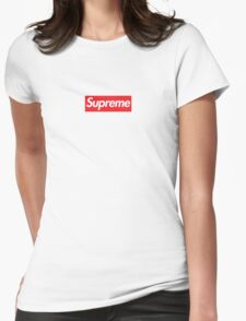 Supreme Red Box Logo Womens Fitted T-Shirt