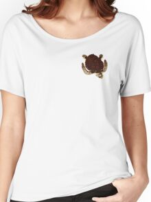 Swimming Turtle Isolated Women's Relaxed Fit T-Shirt