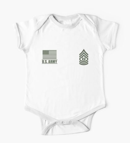 Command Sergeant Major Infantry US Army Rank Desert by Mision Militar ™ One Piece - Short Sleeve
