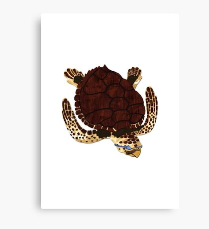 Swimming Turtle Isolated Canvas Print