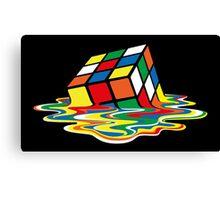 Sheldon Cooper - Melting Rubik's Cube    Cubo de Rubik derritiéndose Canvas Print