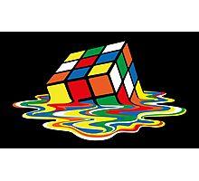 Sheldon Cooper - Melting Rubik's Cube  | Cubo de Rubik derritiéndose Photographic Print