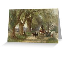 Albert Fitch Bellows (American, ). Coaching in New England, ca.  Greeting Card