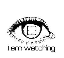 I am watching - BLACK -  POI Photographic Print
