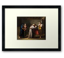 Alois Martin Stadler (Imst  Sterzing) Farewell of Tobias from his blind father with the angel Raphael Framed Print