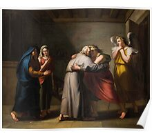 Alois Martin Stadler (Imst  Sterzing) Farewell of Tobias from his blind father with the angel Raphael Poster