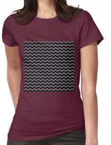 Black and grey chevron pattern. Womens Fitted T-Shirt