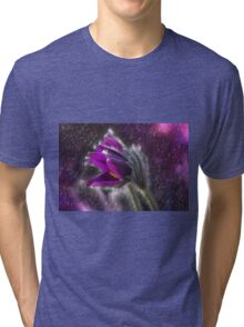 Pasque Flower Tri-blend T-Shirt