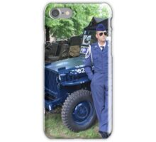 Blue Willys Jeep iPhone Case/Skin
