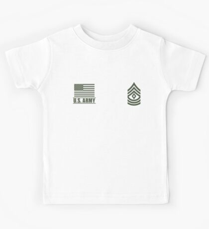 First Sergeant Infantry US Army Rank Desert by Mision Militar ™ Kids Tee