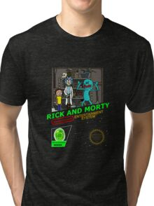NINTENDO: NES RICK AND MORTY Tri-blend T-Shirt