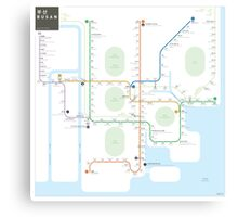 Busan Metro Map Canvas Print